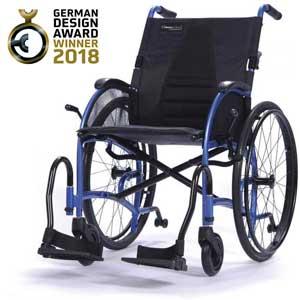 Rollstuhl Strongback mit Hinweis zum Award-Gewinn