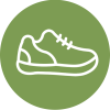 Schuhtechnik Illustration grün weiß