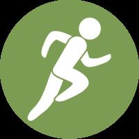 Sportler Illustration grün weiß